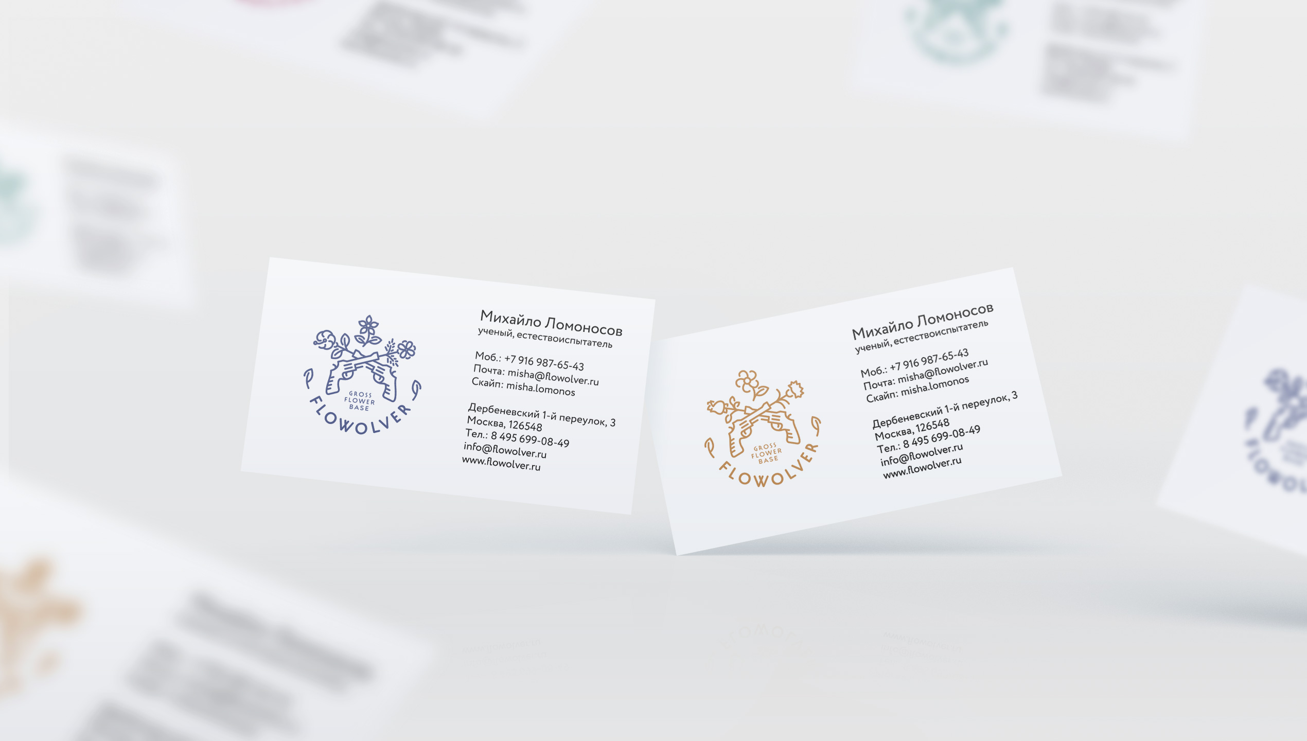 Flowolver business cards